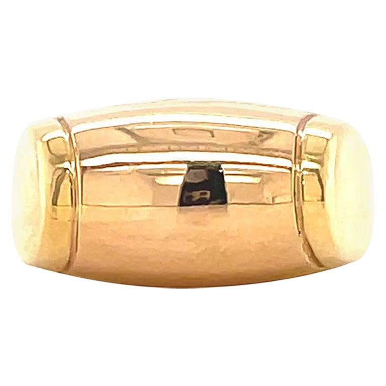 Vintage Bvlgari Tronchetto 18 Karat Gold Ring