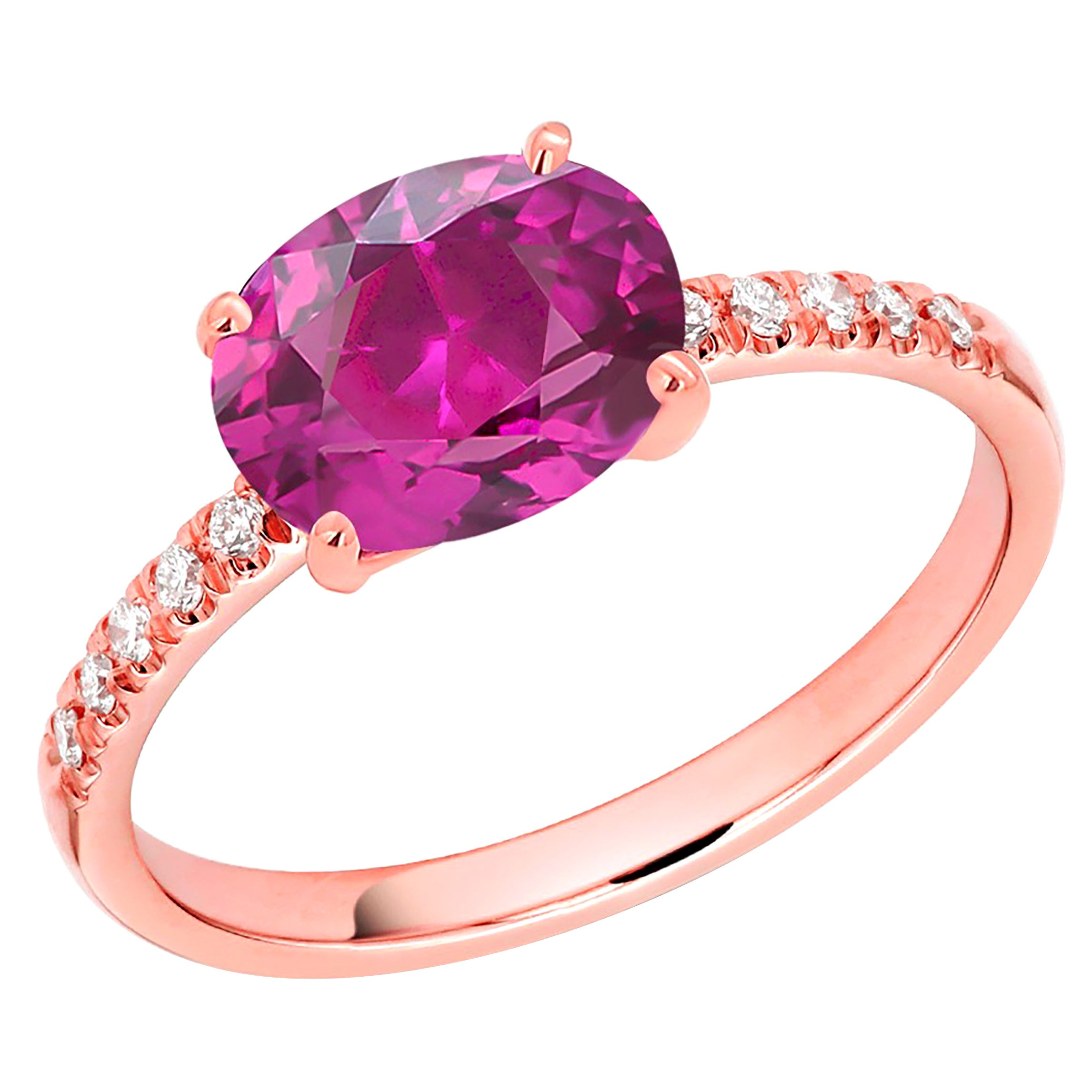 Ceylon Pink Sapphire and Diamond Rose Gold Cocktail Ring