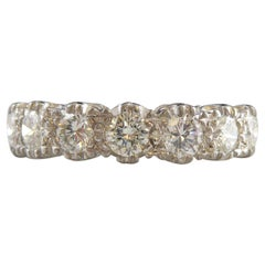 Vintage Diamond Eternity Ring with Seven Brilliant Cut Diamonds