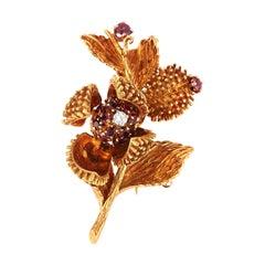 Tiffany & Co. Ruby Brooch in 18K Yellow Gold