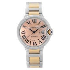 Cartier Ballon Bleu 18K Rose Gold Steel Pink MOP Dial Ladies Watch W6920033