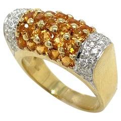 18KT Yellow Gold Citrine 1.50Ct Diamond 0.43Ct Ring