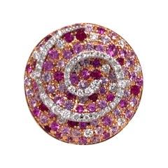 Ugo Cala Diamond, Ruby, and Sapphire 18K Ring