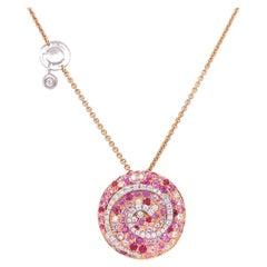 Ugo Cala Diamond, Ruby, Sapphire 18k Necklace