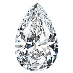 Exceptional Internally Flawless GIA Certified 4.06 Carat Pear Cut Diamond