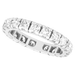 Vintage French 1.62Ct Diamond and White Gold Full Eternity Ring, Circa 1980