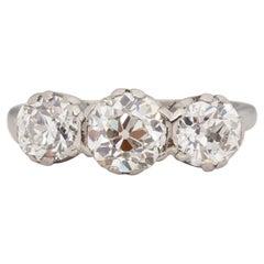 GIA Certified 1.08 Carat Art Deco Diamond Platinum Engagement Ring