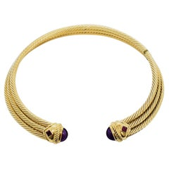 Estate David Yurman Yellow Gold and Stainless Steel Necklace