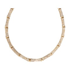 Cartier Bamboo Diamond Necklace in 18K Yellow Gold 22.00 CTW