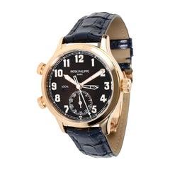 Patek Philippe Pilot Travel Time 7234R-001 Men's Watch in 18kt Rose Gold