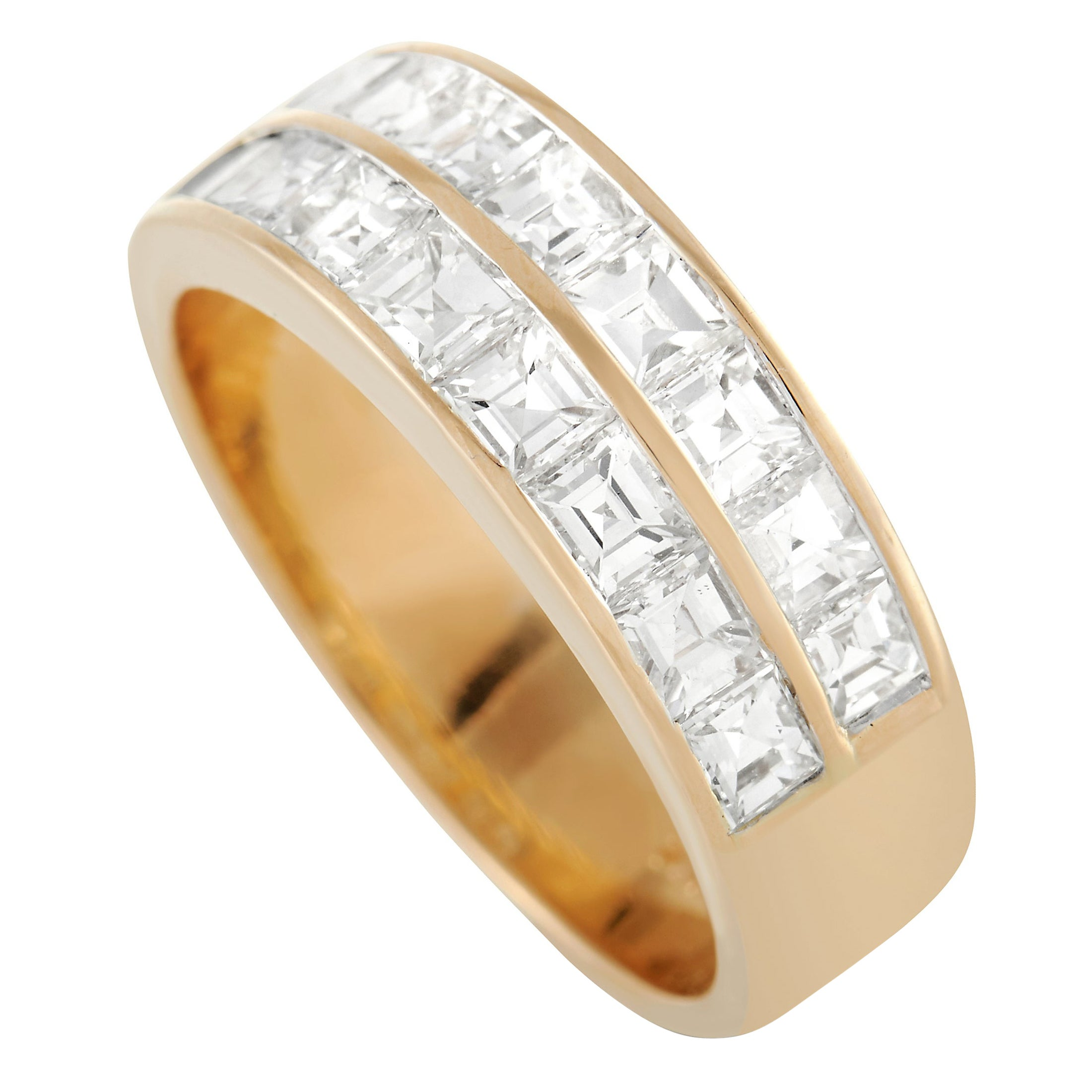LB Exclusive 18K Yellow Gold 1.50 Ct Diamond Band Ring