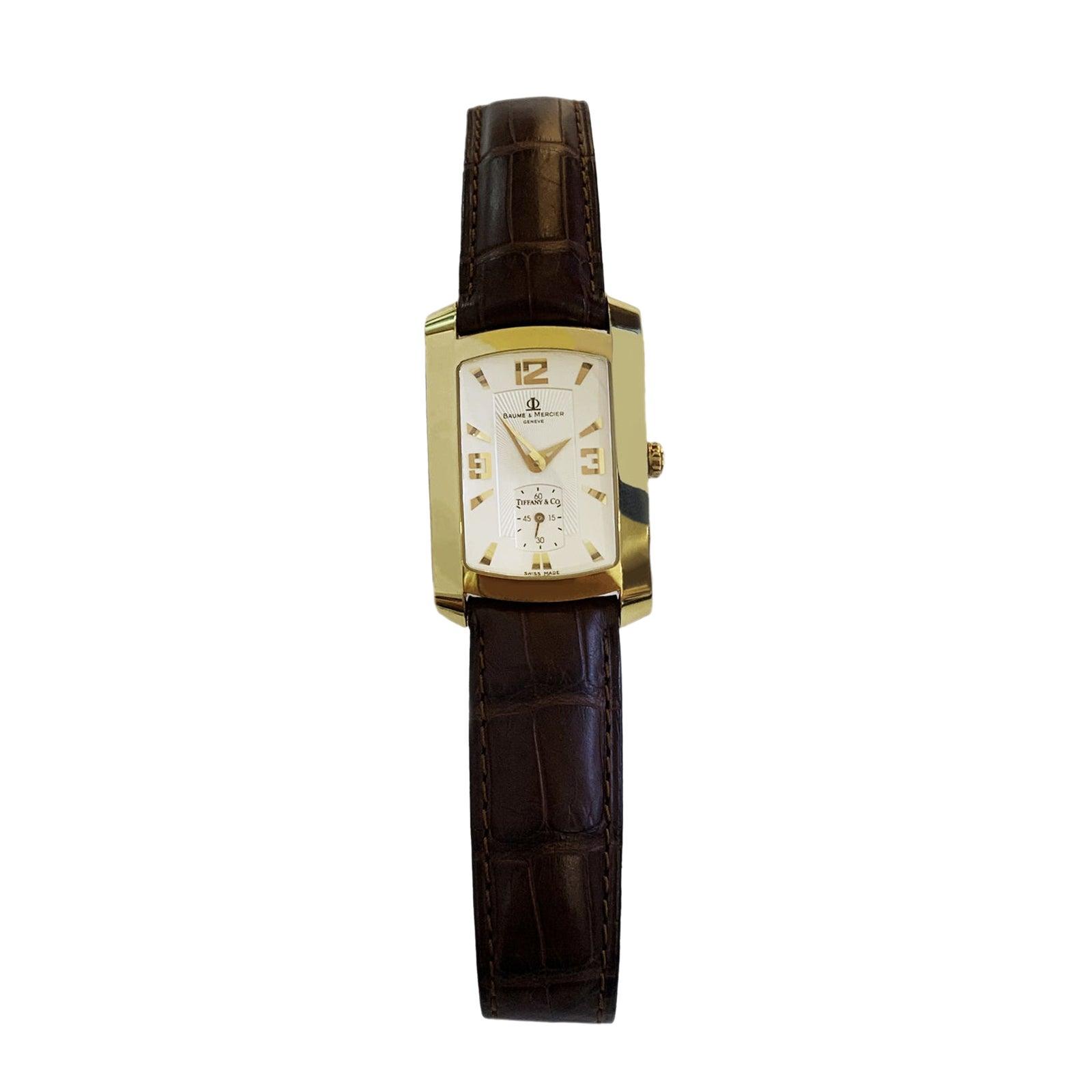 Baume & Mercier Tiffany 18k Gold Hampton Watch WV045224