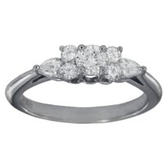 Tiffany & Co. Seven Stone Diamond Platinum Ring