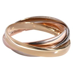 Cartier Vintage Trinity Bangle in 18K 3 Tone Gold