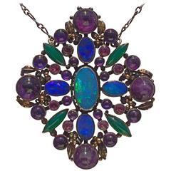 Attributed to Dorrie Nossiter Arts and Crafts Pendant