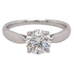 Tiffany & Co Harmony Round Diamond 1.15 cts H VS2 Engagement Ring Plat EX EX EX