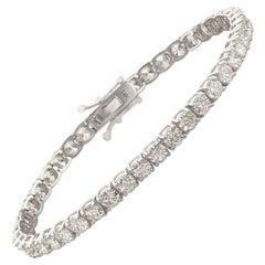 Splendid Diamond & Gold Line Tennis Bracelet