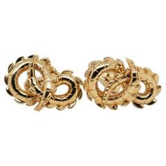Crocodile Cufflinks in 18ct Yellow Gold