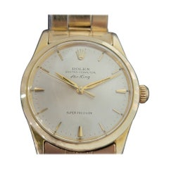 Mens Rolex Oyster Perpetual Air King 5506 Gold-Capped Automatic 1960s RA177