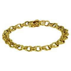 14K Yellow Gold Parallel Curb Link Bracelet