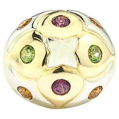 Bvlgari Multi Gemstone 18kt Gold Dome Ring