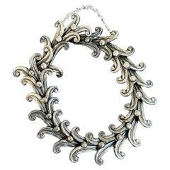 Vintage Margot de Taxco Mexican Silver Swirl Bracelet