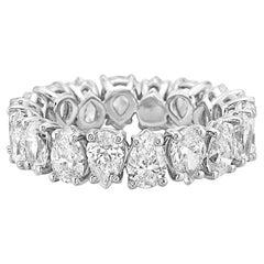 White Gold Pear Shapes Diamond Eternity Band