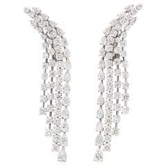 Diamond Waterfall Dangle Earrings