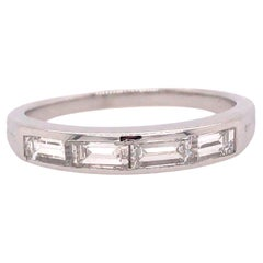 Tiffany & Co. Baguette Diamond Band in Platinum