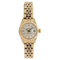 Rare 1979 Rolex Ladies Datejust Solid 18k Yellow Gold 6917