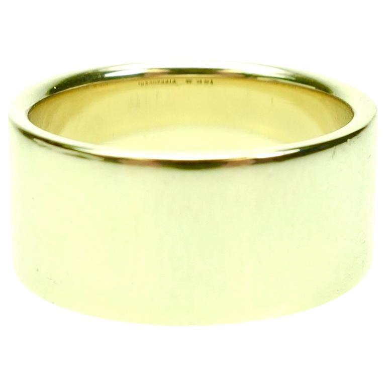 Tiffany & Co. Wide Yellow Gold Band Ring