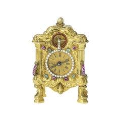 Antique Gold Clock, circa 1840