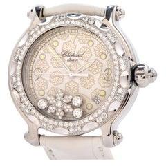 Chopard Happy Sport Snowflake Diamond Ladies Watch REF 8347