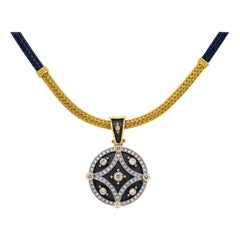 Dimos 18k Gold Byzantine Pendant in Necklace with Brilliant Diamonds