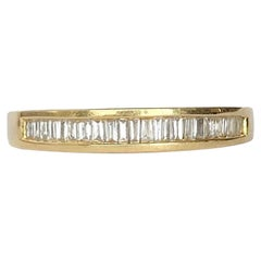 Vintage Diamond and 18 Carat Gold Half Eternity Ring
