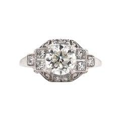 Edwardian Era 1.05 Carat Platinum Diamond Ring