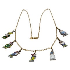 Snow White and the Seven Dwarfs Necklace 18K