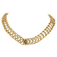 Tiffany & Co Yellow Gold Open Link Chain Necklace