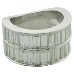 Black Starr and Frost Platinum Wedding Band Ring 5.15 Carats