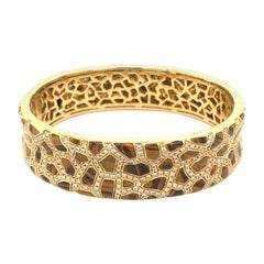 Roberto Coin Tigers Eye and Diamond Bracelet from the Animalier Collection