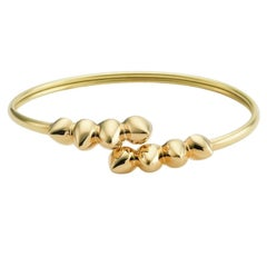 Maria Kotsoni, Contemporary Sculptural 18K Gold Flexible Spike Cuff Bracelet