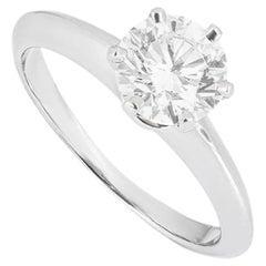 Tiffany & Co. Round Brilliant Cut Diamond Solitaire Engagement Ring 1.05ct H/VS2
