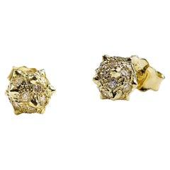 Baby Morning Star, Diamond Studs Earring in 18K Yellow Gold