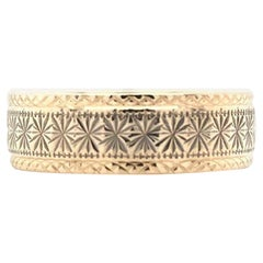 14K Yellow Gold Engraved Vintage Band