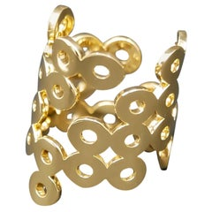 Mohamad Kamra Geometric Bubbles Ring in 18kt Solid Yellow Gold