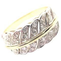 H. Stern Diamond Yellow Gold Band Ring