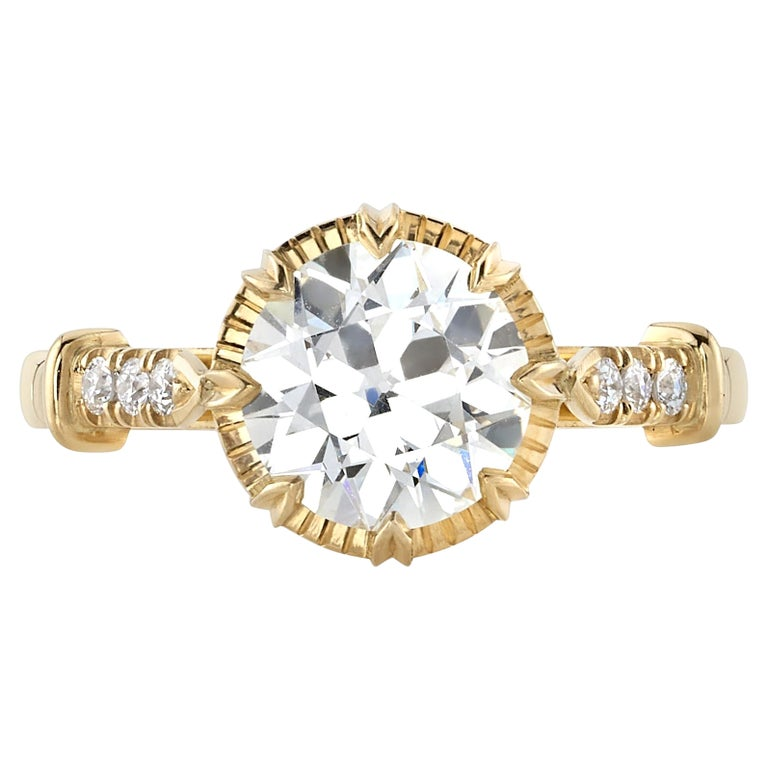 Handcrafted Arielle Old European Cut Diamond Ring by Single Stone