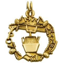 1974 Gold Gondola Charm