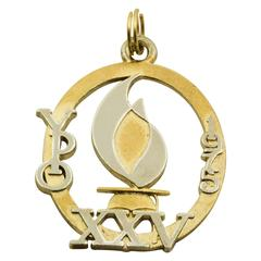 1975 Sterling Silver Gold-Plated Charm