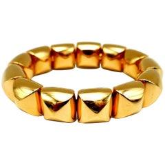 Vhernier Freccia Yellow Gold Bangle Bracelet